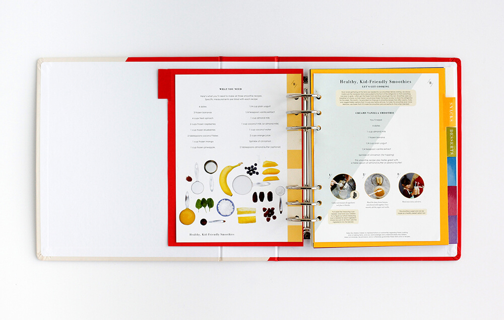 Recipe journal popup